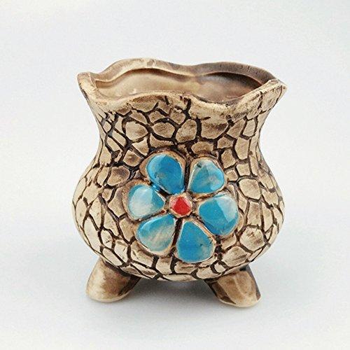 Korea Hand Painted Three-Dimensional Relief Flowerpot Fun Desktop Potted Succulents Pots