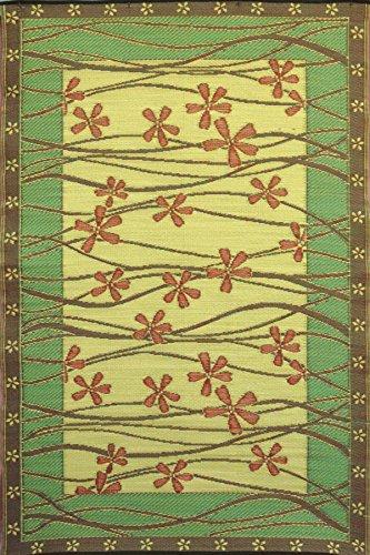 Mad Mats Tall Grass IndoorOutdoor Floor Mat 4 by 6-Feet Pine Gold