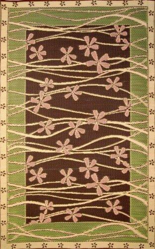 Mad Mats&reg Tall Grass Indooroutdoor Floor Mat 6 By 9-feet Brown And Pink