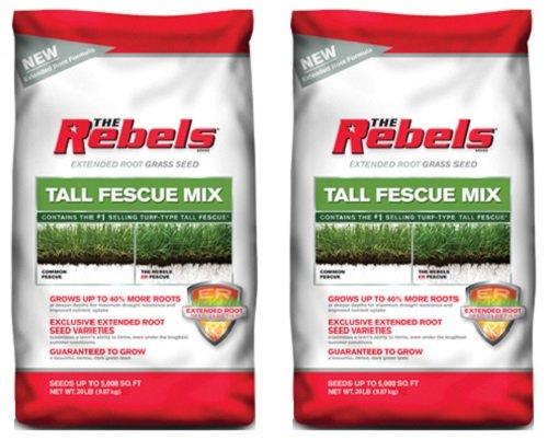 Pennington 100519431 20 lb The Rebels Tall Fescue Grass Seed Mix - Quantity 2 bags