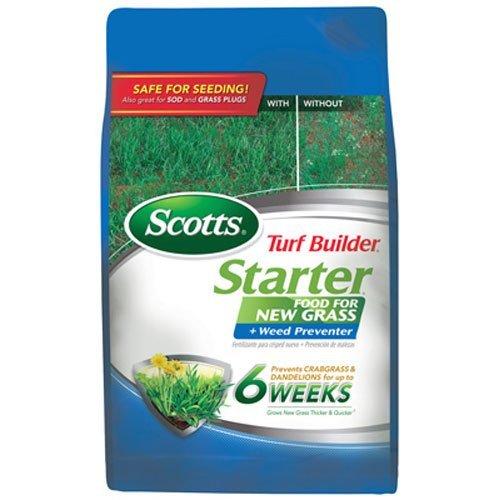 Scotts Turf Builder Lawn Food - Starter Food for New Grass Plus Weed Preventer 5000-sq ft Starter Lawn Fertilizer Plus Crabgrass Dandelion Weed Preventer Not Sold in FL
