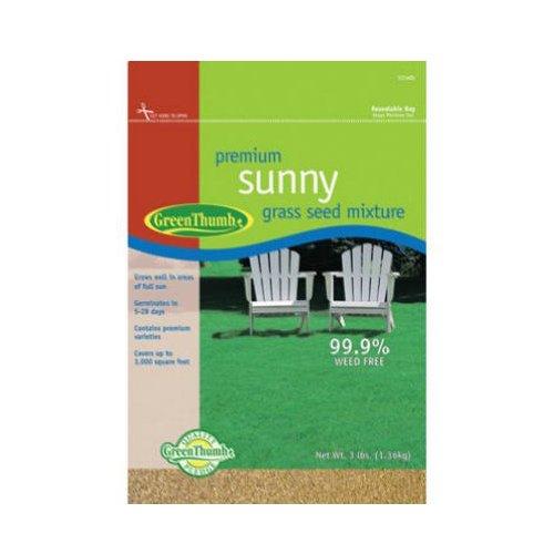 Barenbrug Usa Green Thumb 531485 Premium Sunny Grass Seed Mixture 3-pound