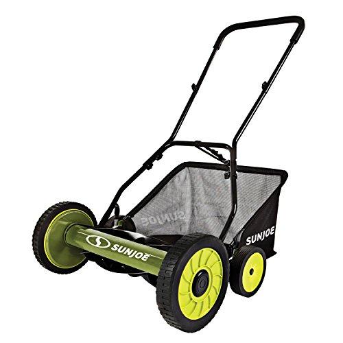 Snow Joe FBA_MJ502M 20-Inch Manual Reel Mower wGrass Catcher Green