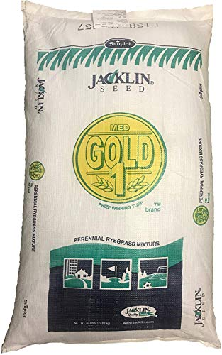 Jacklin Seed - Medalist Gold Blend - 100 Perennial Ryegrass  Certified Grass Seed 5-50 lbs 50 lbs 10000 sq ft