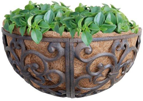 Esschert Design Usa Bph27 Cast Iron Hayrack Basket Planter 14-inch