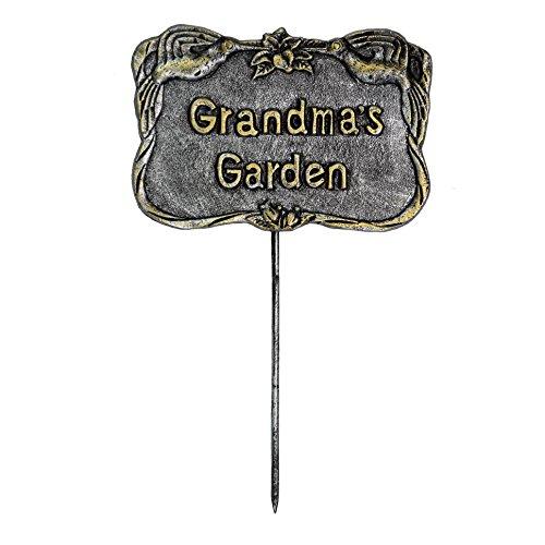 Oakland Living Decorative Garden Marker Grandmas Garden Antique Pewter
