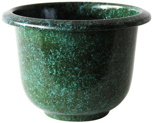 Novelty Round Glazetone Planter 16-inch Moss