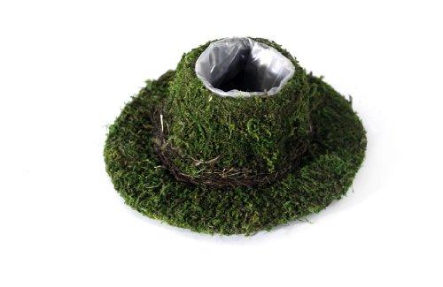 Supermoss 55569 Moss Cowboy Hat Planter Fresh Green Small