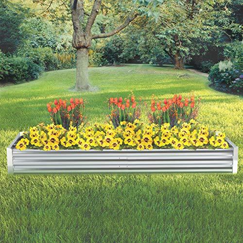 Kotulas Galvanized Steel Raised Garden Bed - 8ft x 3ft