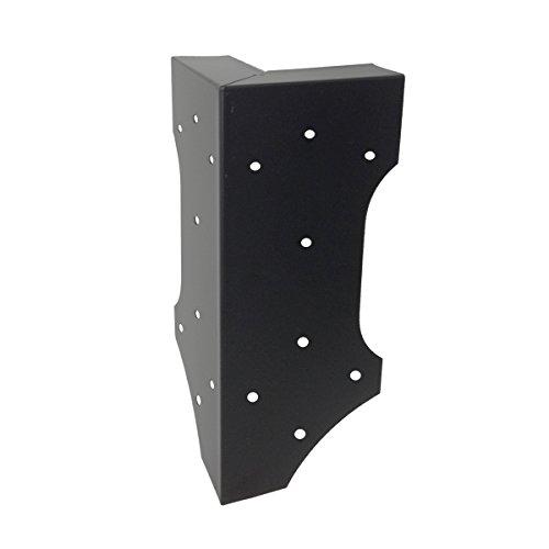 Panacea 89584 Raised Garden Bed Corner Brackets Plant-Container-Accessories Black