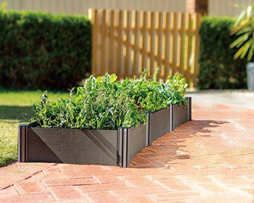 WatexUrban Farming WX037 Triple Raised Garden Bed KitMicro Irrigation kit included Grey