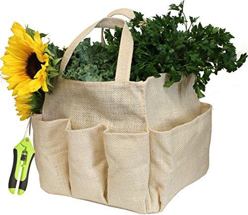 Kasian House Gardening Kit with Burlap Gardening Tool Bag and Micro Pruning Extra Sharp Snips