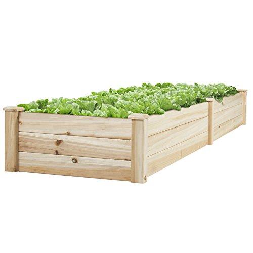 LTL Shop Vegetable Raised Garden Bed Patio Backyard Grow Flowers elevated Planter