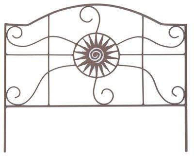 4 ea Panacea Products 84573 14 x 18 Rust Aztec Design Garden Border Edge  Fencing  Fence
