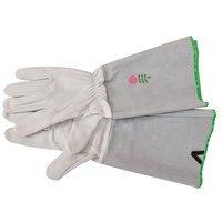 Gardeners Edge Leather Garden Rose Gloves - Large
