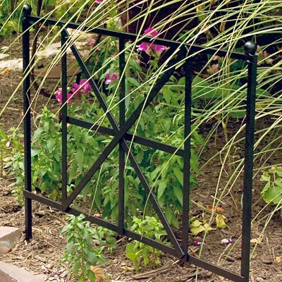 Panacea British Cross Garden Edge 20-inch Height By 24-inch Width Black