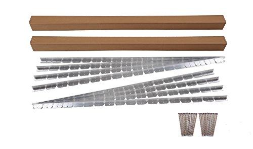 EasyFlex 1856-48C Commercial Grade Aluminum Paver Edging Kit 48-Feet