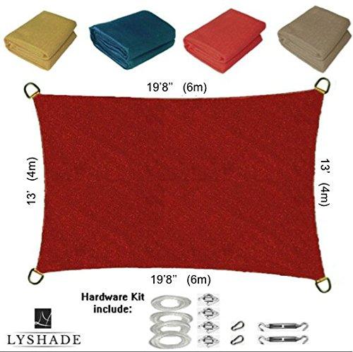 Lyshade Sun Shade Sail Canopy Rectangle 198 X 13 With Hardware Kit terracotta