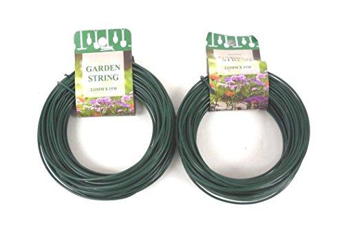 100 Feet Garden Wire Heavy Duty Green Coated Plant Twist Tie Garden Training Wire