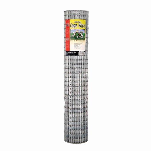 Garden Zone 403010 12&quot X 1&quot Mesh 16-gauge Galvanized Wire Fence 30&quot X 10