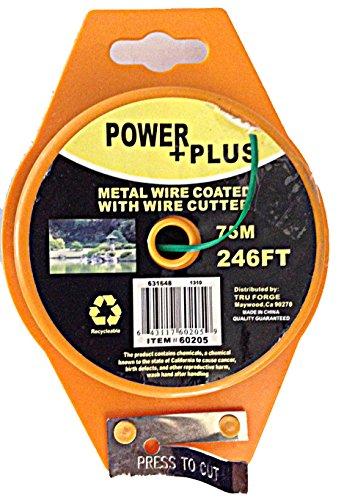 Power Plus Green Plastic-coated Garden Twist Ties Medal Wire Dispensers 246 Ft