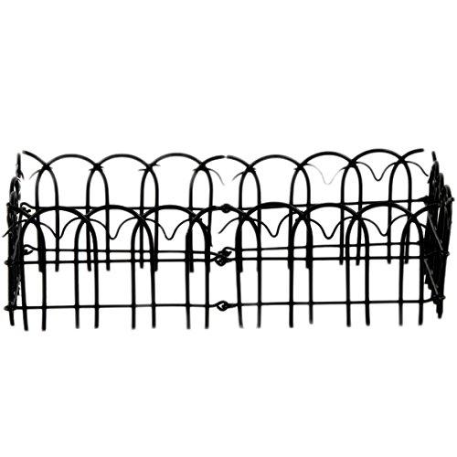 Large Black Enamel Wire Folding Fence - Set Of 3