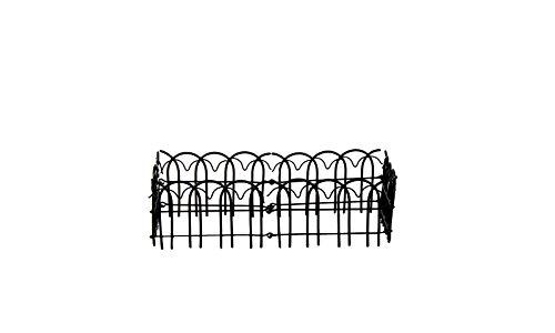 Small Black Enamel Wire Folding Fence - Set Of 3
