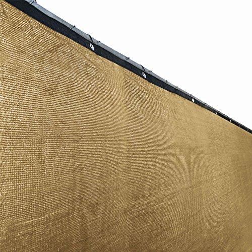 Aleko 6 X 50 Fence Privacy Screen Outdoor Backyard Fencing Windscreen Beige