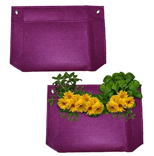 1 Pocket Vertical Garden Planter By Invigorated Living Waterproof Garden Pots For Indooramp Outdoor Use On Patios