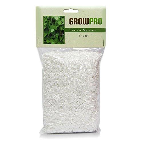 Grow Pro Heavy-Duty Vertical Garden Trellis Mesh Netting White