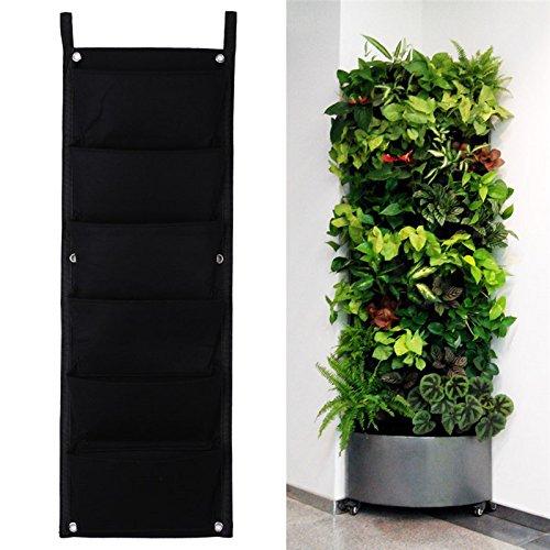 8430cm 6 Pockets Vertical Garden Planter Indoor Outdoor Wall Balcony Herbs Vertical Garden Hanging Planter Bag -All U Need