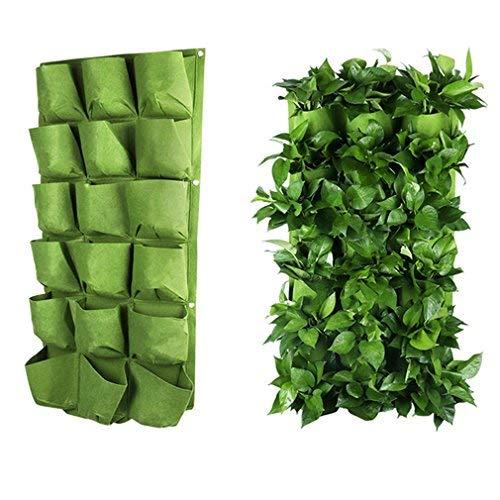 OriginA 49 Pockets Vertical Grow Bags Garden Hanging Wall Planters IndoorOutdoor Green