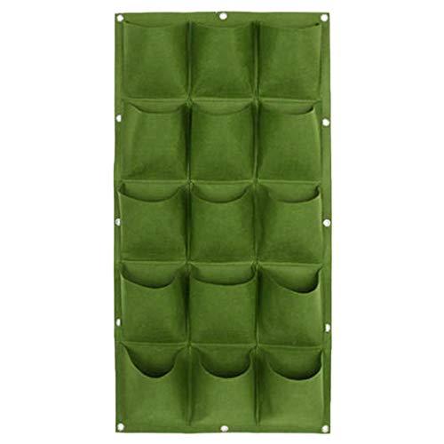 Vertical Greening Hanging Wall Garden Plant Grow Pot Bag Planter 918 Pocket B Green