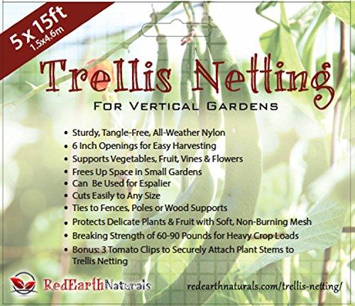 Sturdy Nylon Trellis Netting Supports Veggiesamp Vines To Grow Upright Bonus 3 Tomato Clipsamp 5 Creative Ways