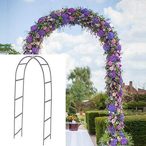 Newsmarts 79Ft Metal Garden Arch Army Green Garden Arbor for Climbing Plant Outdoor Wedding Party