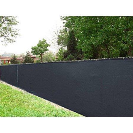 ALEKO 6 x 25 Black Fence Privacy Screen Outdoor Backyard Fencing Windscreen Shade Cover Mesh Fabric