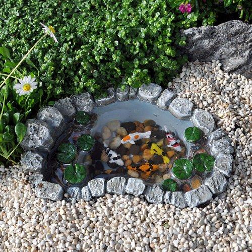 Miniature Fairy Garden Mini Koi Lily Pad Pond