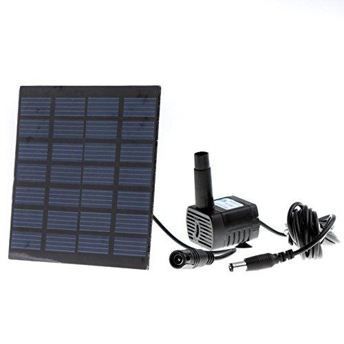 GigaMaxTMPool Water Garden Plants Watering Kit Solar Power Fountain Soar PumpWater Pump