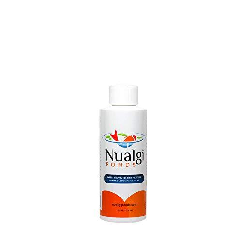 Nualgi Ponds - Natural Algae Control Water Clarifier Algaecide Alternate - 100 Safe for All Fish Plants Animals 1 x 125ml