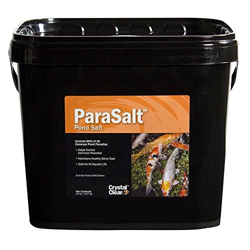 CrystalClear ParaSalt - Pond Salt for Koi Goldfish - 20 Pounds Treats Up to 4000 Gallons