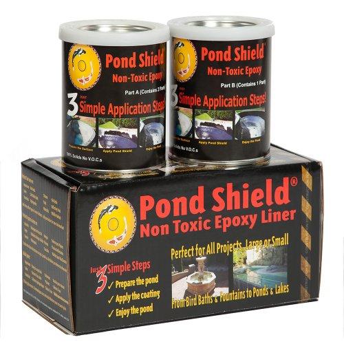 Pond Armor SKU-WHITE-QT-R Non-Toxic Pond Shield Epoxy Paint 15-Quart White