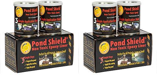 Pond Armor SKU-Black-QT-R Non Toxic Pond Shield Epoxy Paint 15-Quart Black Тwо Расk