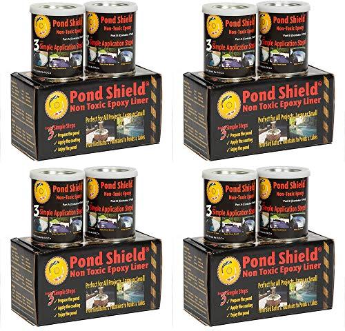 Pond Armor SKU-Black-QT-R Non Toxic Pond Shield Epoxy Paint 15-Quart Black Fоur Расk