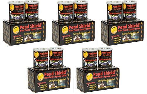 Pond Armor SKU-Black-QT-R Non Toxic Pond Shield Epoxy Paint 15-Quart Black Fіvе Расk