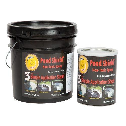 Pond Armor SKU-GRAY-3GA Non-Toxic Pond Shield Epoxy Paint 3-Gallon Gray