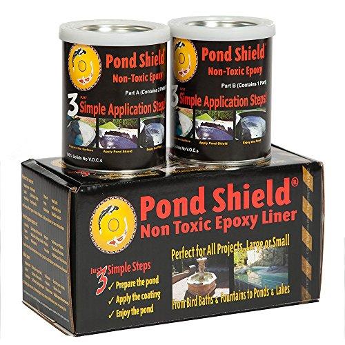 Pond Armor SKU-GRAY-QT-R Non-Toxic Pond Shield Epoxy Paint 15-Quart Gray Renewed