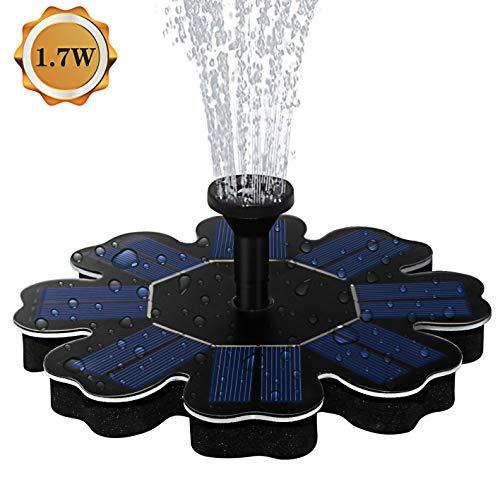 AMYER Solar Fountain Solar birdbath Fountain Solar Powered Fountain Pump 17W Solar Panel Kit Solar Water Fountain for Pool Pond Garden Fish Tank Aquarium