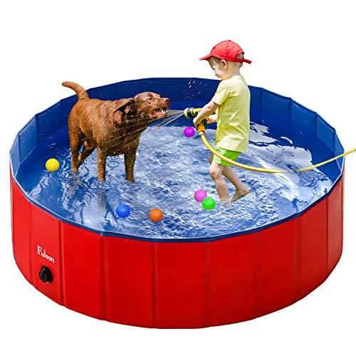 Fuloon Kiddie Pool Dog Pool Portable Foldable Pool Dogs Cats Bathing Tub Bathtub Kiddie Wash Tub Water Pond Pool Kiddie Pools for Kids in The Garden