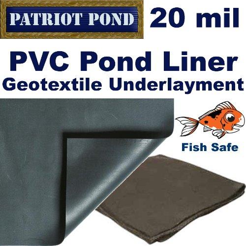 20 X 20 20 Mil Pvc Pond Lineramp Underlayment Combo