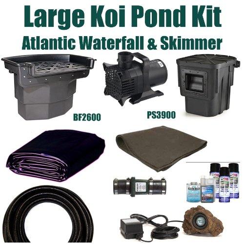Patriot Complete Pond Kit Atlantic Skimmer Waterfall 5200 Gph Pump 20 X 25 La2